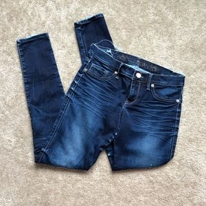 Express Distressed Skinny Jegging